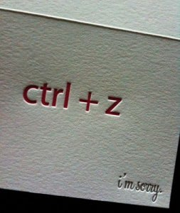 Werbemittel ctrl-z-sorry-card