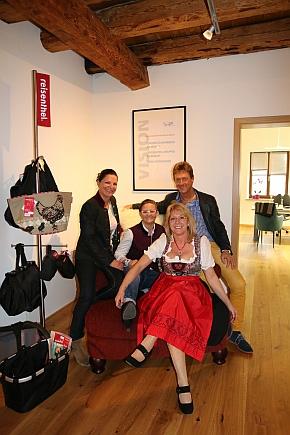 Fesch! (v.l.): Ulrike Meyer, Nadine Bischof, Petra Pantke und Harald Wilfer
